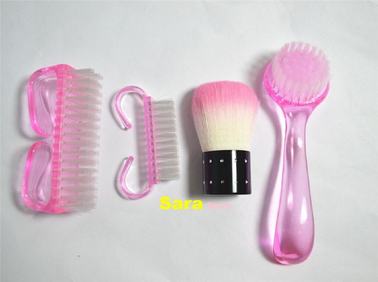 1 peça rosa Nail Art poeira escova de limpeza para unhas de acrílico UV Gel Nail Art polonês ferramentas de arte prego maquiagem escova alishoppbrasil
