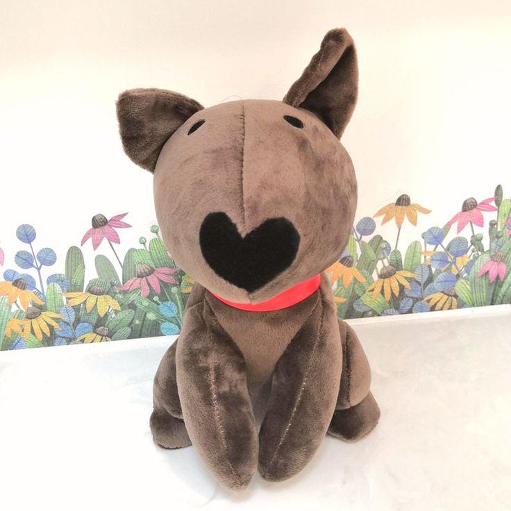 bull terrier dog toy birthday gift cute plushies kawaii dog stuffed animal doll item stuff