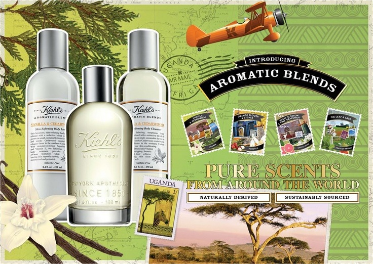 Introducing our #Kiehls #AromaticBlends - our enticing range of fragrant body formulas, complete with a fragrance, skin–softening body cleanser and lotion. This collection features four unique blends sourced from around the world!