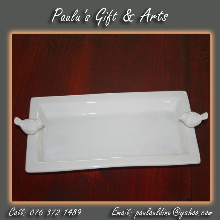 White multi-use Dish are available in store, come and visit us in Diaz.Call us on: 076 372 1489 See more at: tinyurl.com/qg7f74n #Gifts #Arts #Crafts
