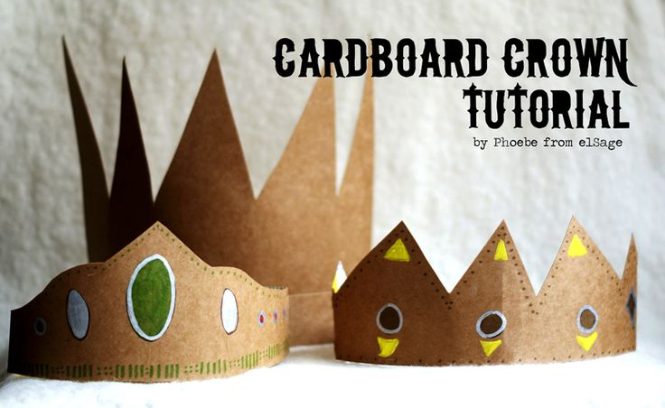 With some old cereal boxes, markers, hot glue or elastic, your kids can be kings or queens for the day...without the fast food hangovers.    Check out this beautifully done tutorial on Made By Joel that shows how