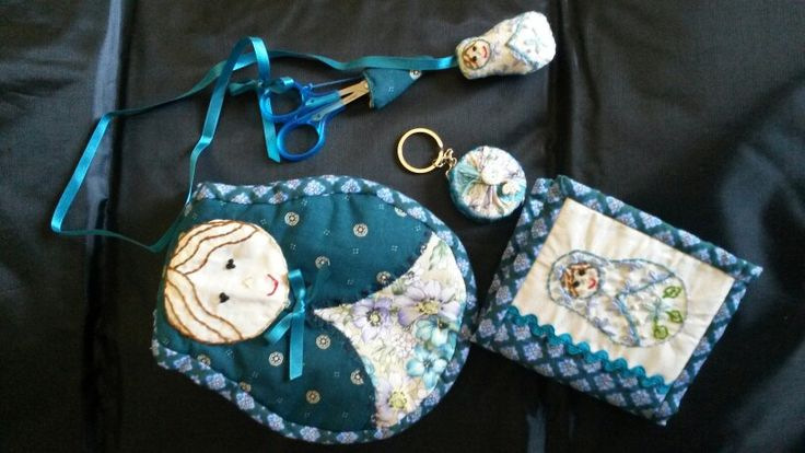 Matryoska sewing kit from pattern by Petals and Patches