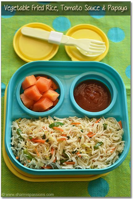 Kids LunchBox Idea 10 - Vegetable Fried Rice