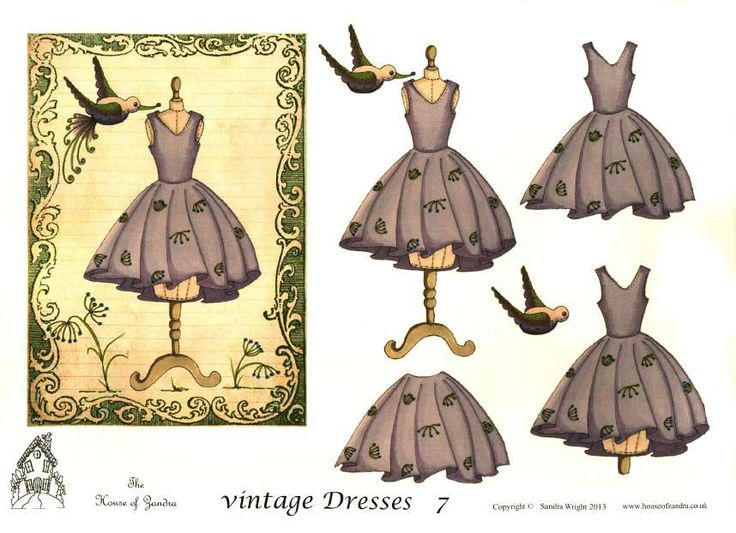 The House of Zandra decoupage - Vintage Dresses 7