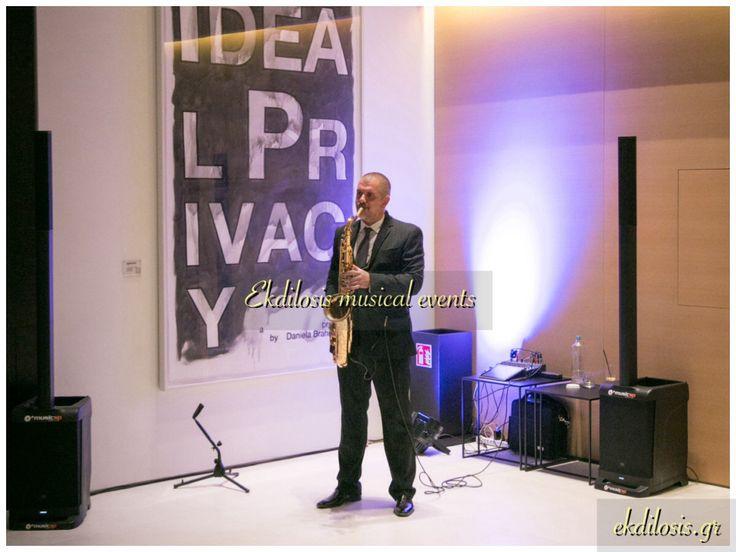 #Μουσικήσαξοφώνου ! Η καλύτερη ιδέα της βραδιάς!  #Σαξοφωνίστας για την μουσική σας εκδήλωση  Ο ΚΑΛΥΤΕΡΟΣ ΤΡΟΠΟΣ ΓΙΑ ΝΑ ΞΕΚΙΝΗΣΕΙ Η ΕΚΔΗΛΩΣΗ ΣΑΣ...  Αναμφίβολα η συμμετοχή ενός σαξόφωνου στην εκδήλωση,στην δεξίωση  ή το πάρτυ φανερώνει την πρόθεσης σας να παρουσιάσετε ένα''ξεχωριστό event'',ξεκινώντας μάλιστα από το καλωσόρισμα των καλεσμένων,με την έναρξη της δεξίωσης,αποδεικνύοντας πώς η επιλογή σας συγκαταλέγεται στα must happenings μιας βραδιάς