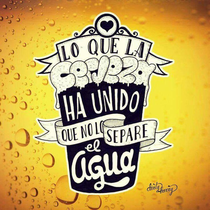 Lo qué la cerveza ha unido....