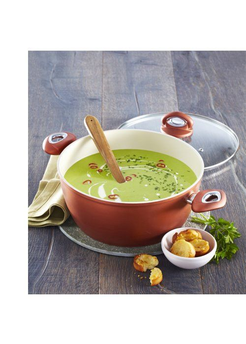 Hráškový krém s parmazánovými krutony - Kuchyňské nádobí Aston