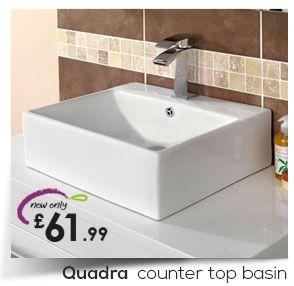Außergewöhnlich Quadra Counter Top Basin
