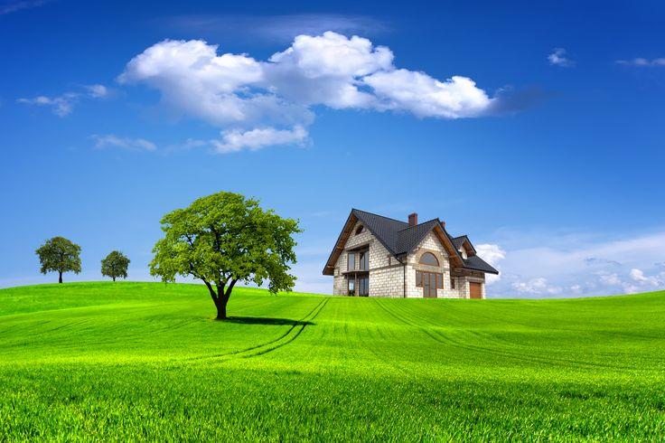 Скачать обои пейзаж, природа, лето, дом, домик, раздел рендеринг в разрешении 3000x2000