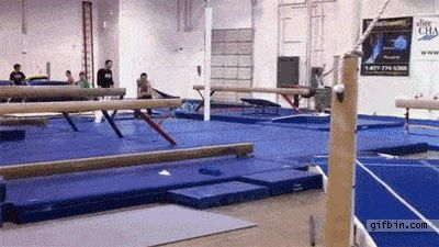 This well-armed gymnast:
