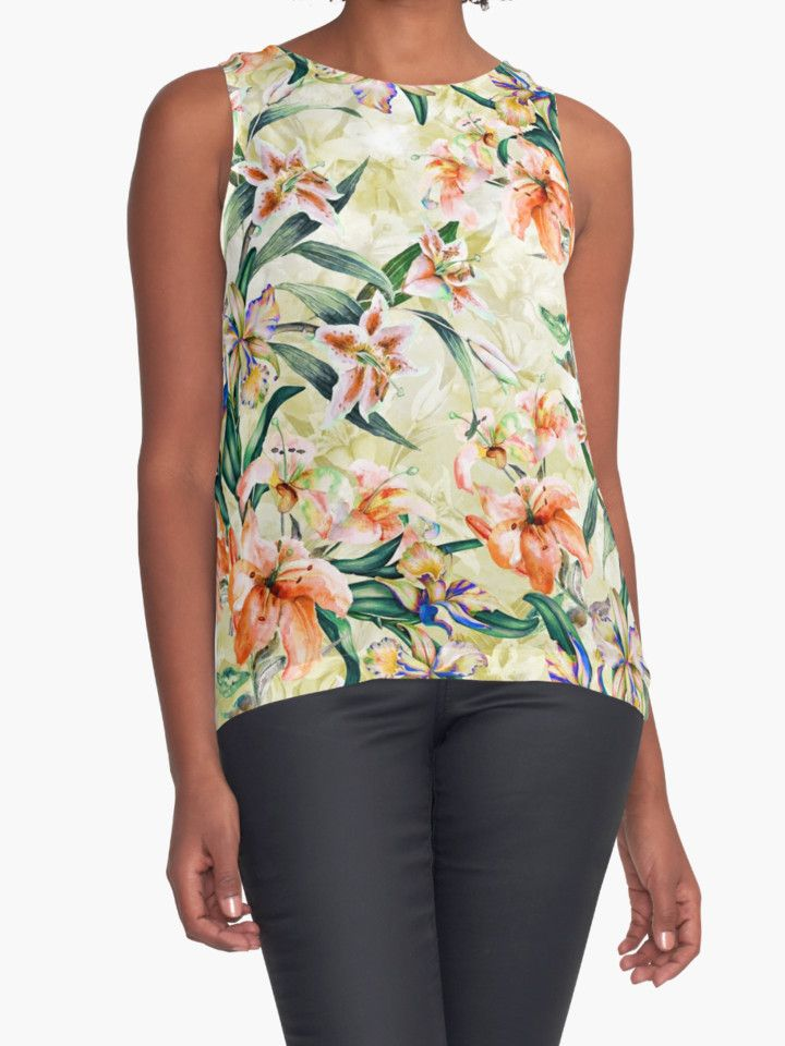 RPE Seamless Floral III by RIZA PEKER #women #fasfion #tank #top #floral #summer #style #girls