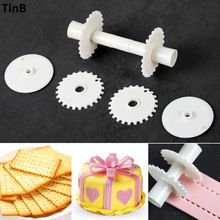 Bakeware Kitchen Plastic Sugarcraft Cake Rollers Set Pastry Cake Border Decorating Tools Cake Mold Baking Tools For Cakes cocina(China)