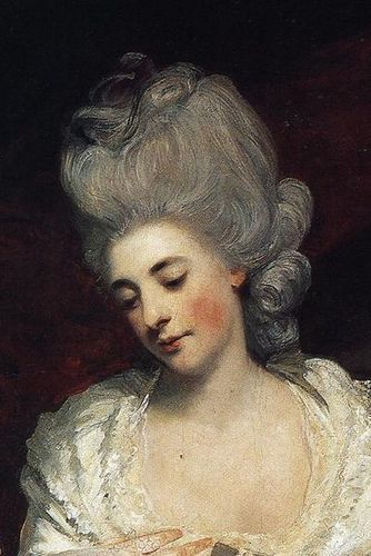 Poufed Hair, 1780, rouged cheeks