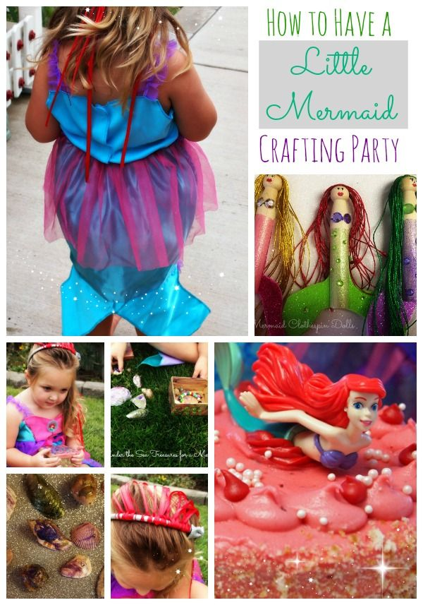 How to have a Little Mermaid Crafting Party #DisneyPrincessPlay #cbias #campaign #shop: Fun Diy, Diy Parties, Disney Princess, Frugal Diy, Inexpensive Diy