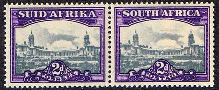South Africa 1945 Pretoria SG107b Pair Fine Mint SG 107b Scott 55 Other South African Stamps HERE