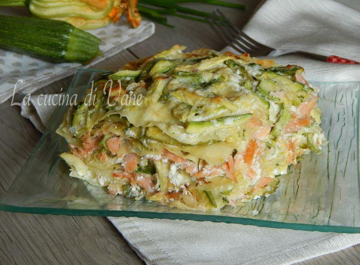 Lasagne+zucchine+e+salmone+senza+besciamella