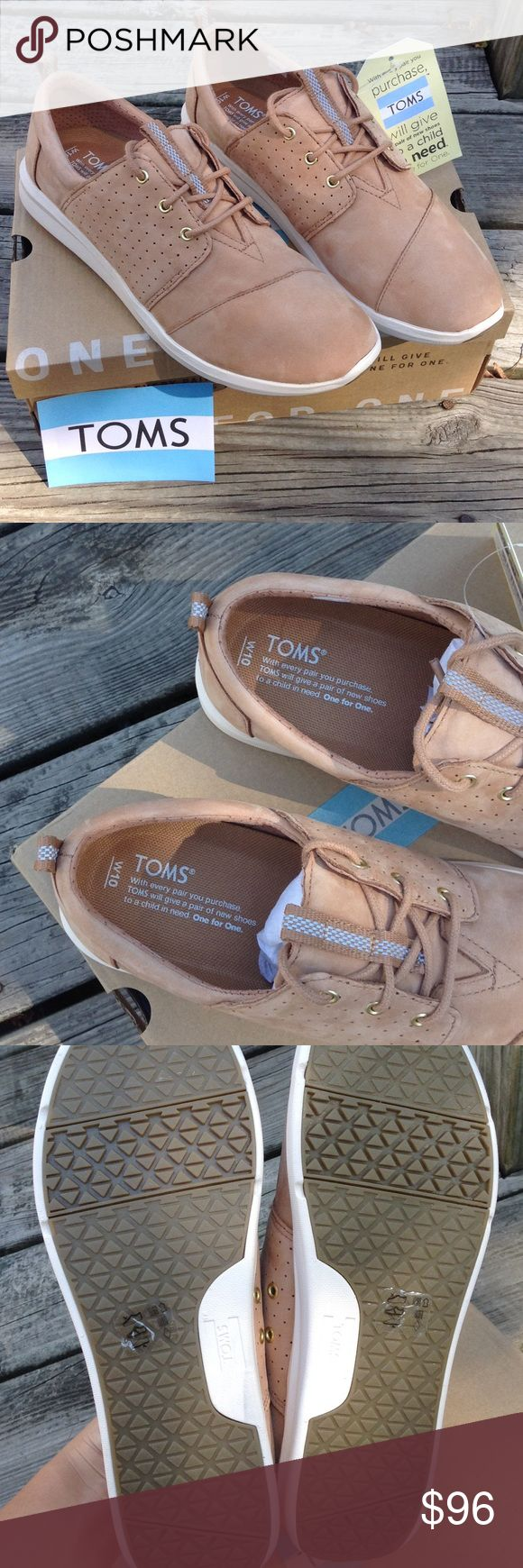 BRAND NEW!!! NEVER WORN! Toms Del Ray sneakers Brand new! never worn! Toms Del Ray sandstorm nubuck leather sneakers. Theses shoes are awesome! Comes with original box, toms bag, and toms sticker. I would say that they run true to size and like most Toms a little snug at first but then stretch some with wear. TOMS Shoes Sneakers
