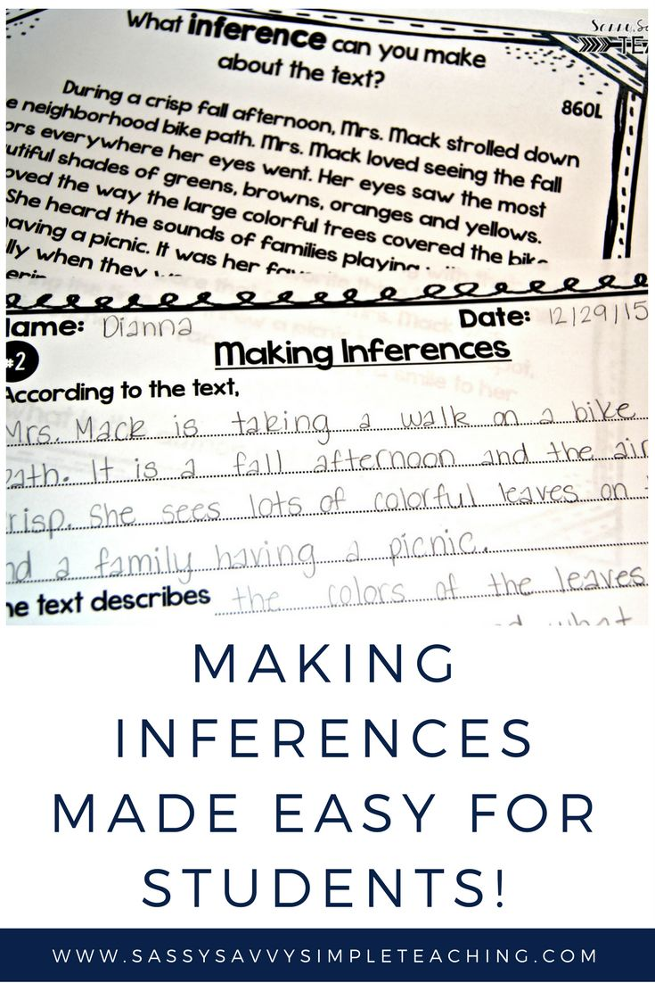 Workbooks inference worksheets 3rd grade : 355 best Inference Lessons images on Pinterest | Classroom ideas ...
