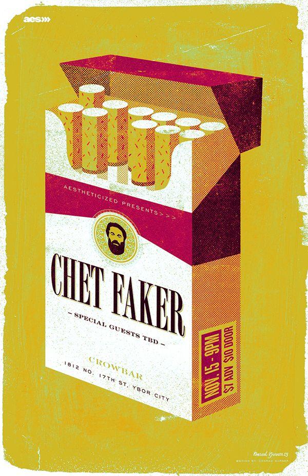 CHET FAKER - Gigposter by Conrad Garner, via Behance