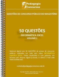 50 Questões de Informática - EXCEL