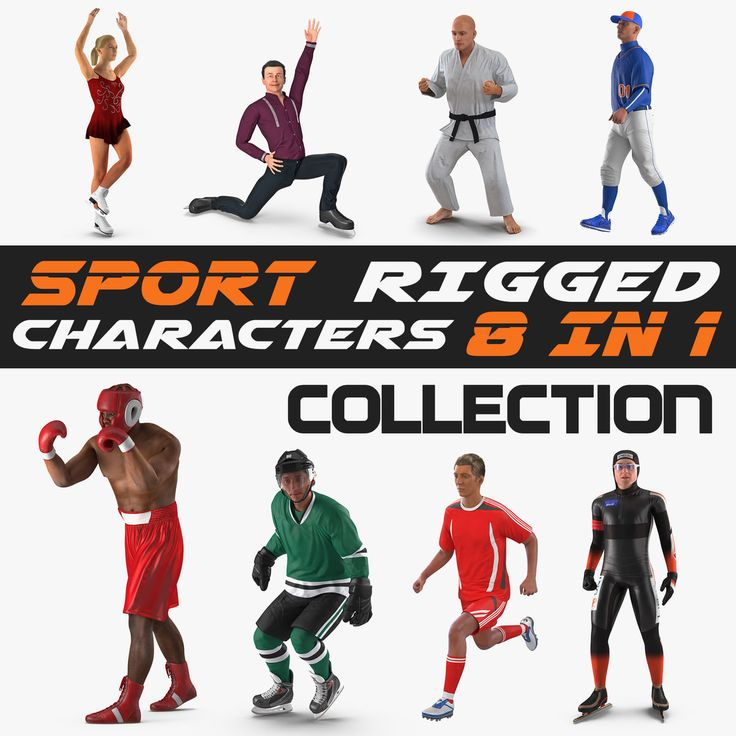 Rigged Sport Characters Collection 3D model