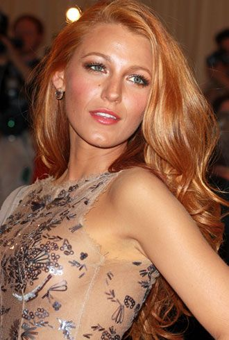 blake lively strawberry blonde | Blake Lively red hair at the Met Ball