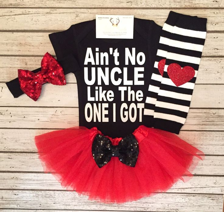 A personal favorite from my Etsy shop https://www.etsy.com/listing/489384722/baby-girl-clothes-no-uncle-like-the-one