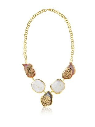 65% OFF Saachi Filligree Stone Statement Necklace