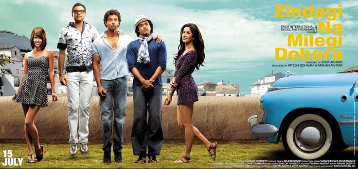 Zindagi na milegi dobara (2011) - Best Bollywood roadtrip movies