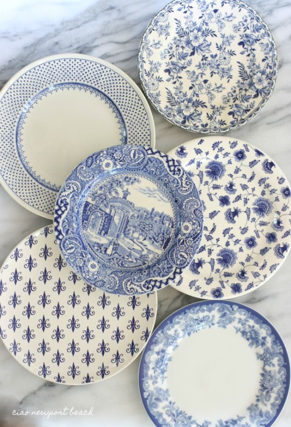 My favorite patterns are by Spode and Johnson Brother's. English transferware is absolutely my fave, but I have found some fun patterns at Sur la Table, Pier One and Ralph Lauren.