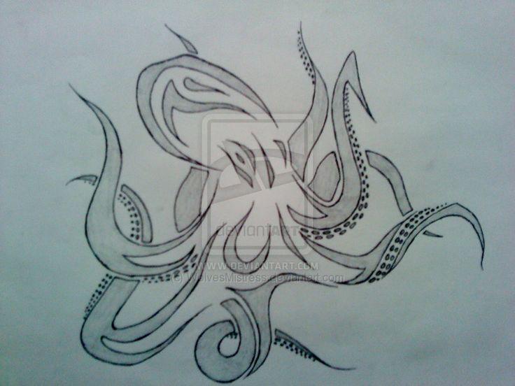 Tribal octopus by ~WolvesMistress on deviantART