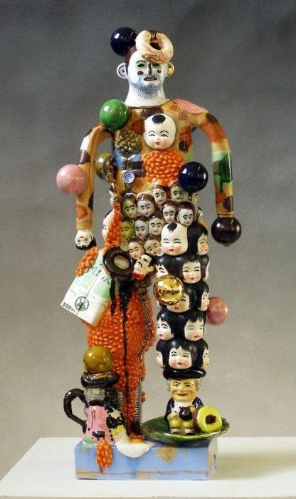 """Stephen Bird - The Scottish Gallery, Edinburgh - Contemporary Art Since 1842 """"Bean there, done that."""" Earthenware. 2010."""