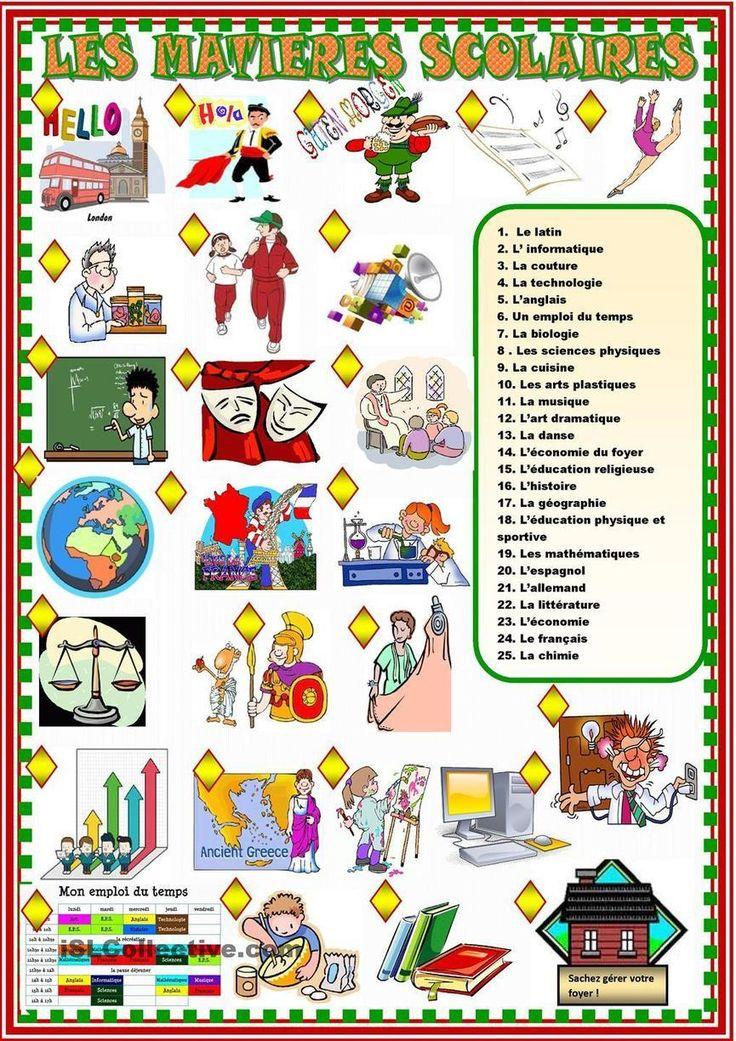 Assez Les 25 meilleures idées de la catégorie Matières scolaires sur  DF47