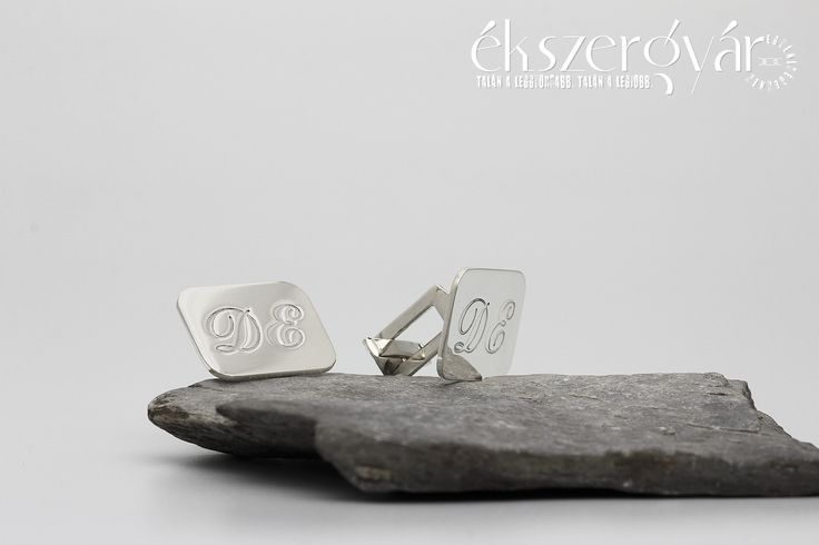 Monogramos ezüst mandzsettagomb.  #sterlingsilver  #cufflinks
