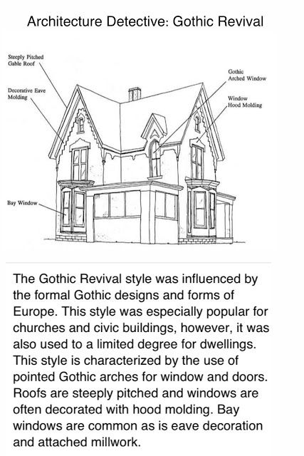 636 best gothic revival victorian houses images on for Types of architectural styles