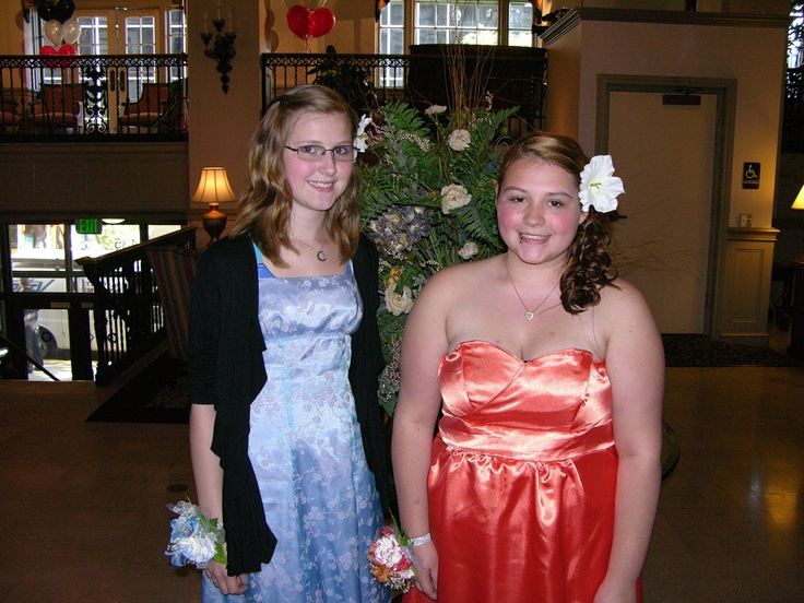 Kaitlyn Lichtley and Jessica Taylor before the Pottstown High School prom.