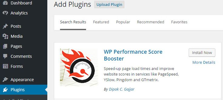 WP Performance Score Booster