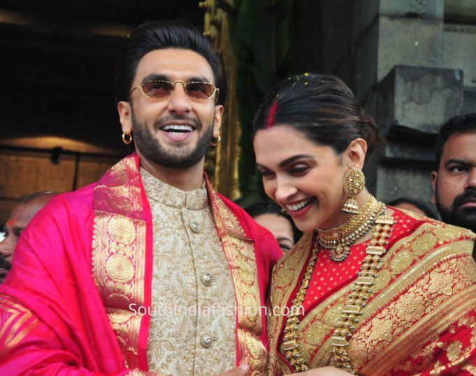 Deepika And Ranveer Visit Tirupati On Their 1st Marriage Anniversary Deepika Padukone Ranveer Singh Bollywood