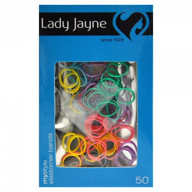 Pack of 50, 1cm Elastomer Bands in Assorted Colours