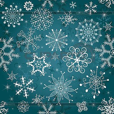 Новогодний синий бесшовный фон | Векторный клипарт | ID 3083070