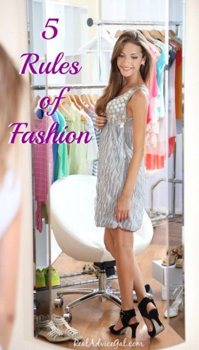 Learn about the rules of fashion. Check out these Classic Fashion Tips for Women!