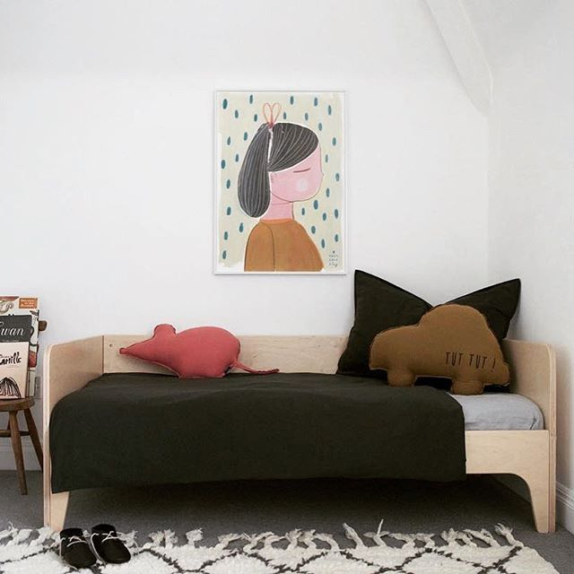 What a beautiful room for our Perch Toddler Bed to be in!  @fig_and_honey #oeufnyc