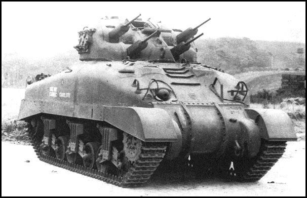 Skink - Canadian Self-propelled anti-aircraft weapon based on chassis of Grizzly tank (Canadian-built M4A1 Sherman tank). Main armament - 4 x 20 mm Polsten automatic cannons. In keeping with the tradition of giving Canadian armoured fighting vehicles animal names, the proposed tank was named after the skink, Ontario's only lizard.
