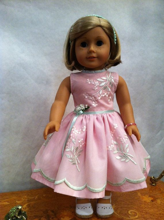 Pretty pink formal on Kit american girl doll
