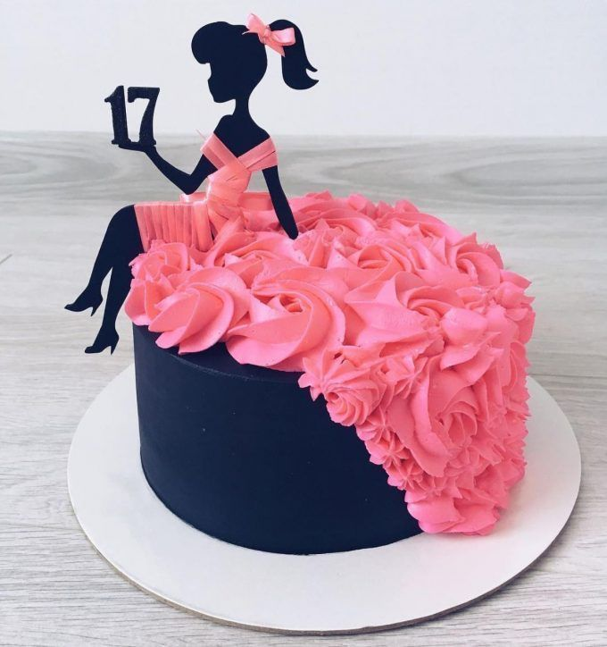 Barbie Kleid Geburtstagstorte #barbie #dress #birthday cake   – Kuchen Bilder