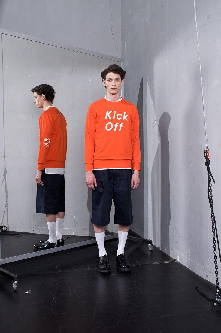 MEI KAWA | Kick Off Graphic Orange Sweatshirt