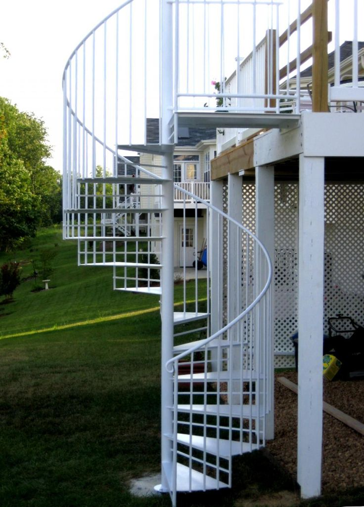 Residential Exterior Spiral Staircase