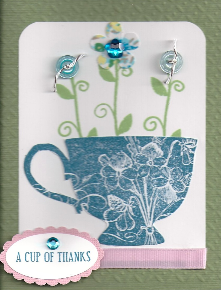 Stampin up tea cup craft ideas pinterest tea cups for Stampin pretty craft room