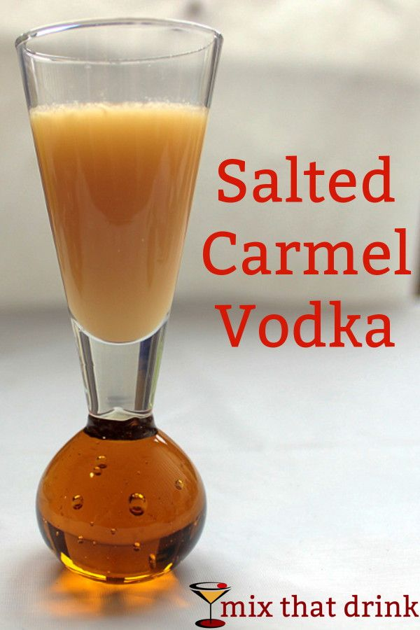 This Salted Caramel vodka infusion tastes better and has a richer texture than caramel-flavored vodka from the store. It's easy to make, and infuses in a few days. Perfect for caramel cocktails!