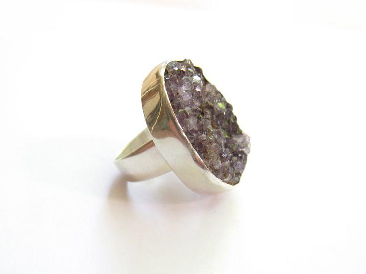 Anillo Druza Amatista www.jetzi.com #jetzi #anillo #diseño